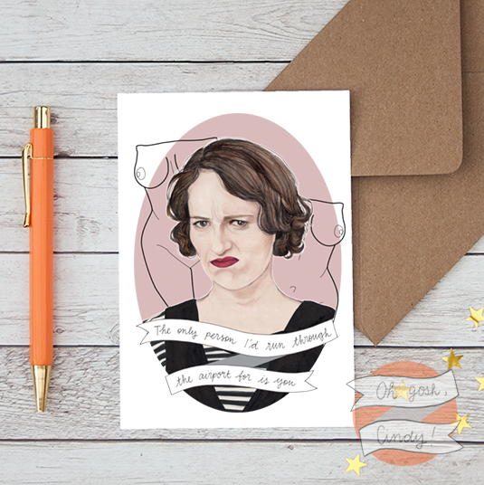 Fleabag greeting card