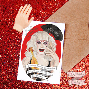 Katya greeting card