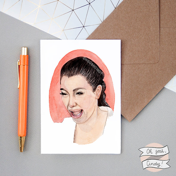 Crying Kim greeting card