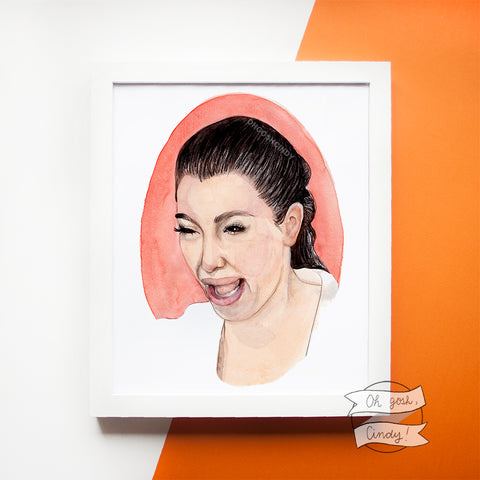 Crying Kim Kardashian print