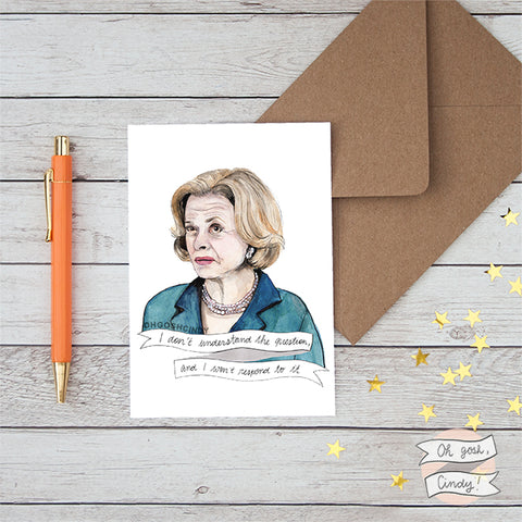 Lucille Bluth greeting card