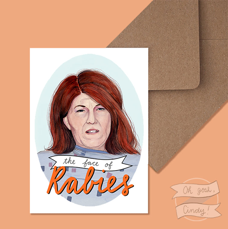 The Face of Rabies greeting card
