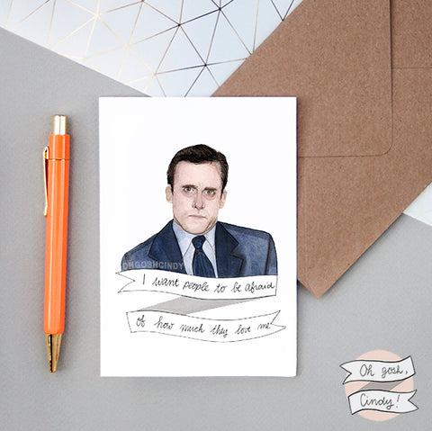 Michael Scott greeting card