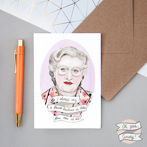 Mrs. Doubtfire greeting card