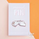 Pulse enamel lapel pin