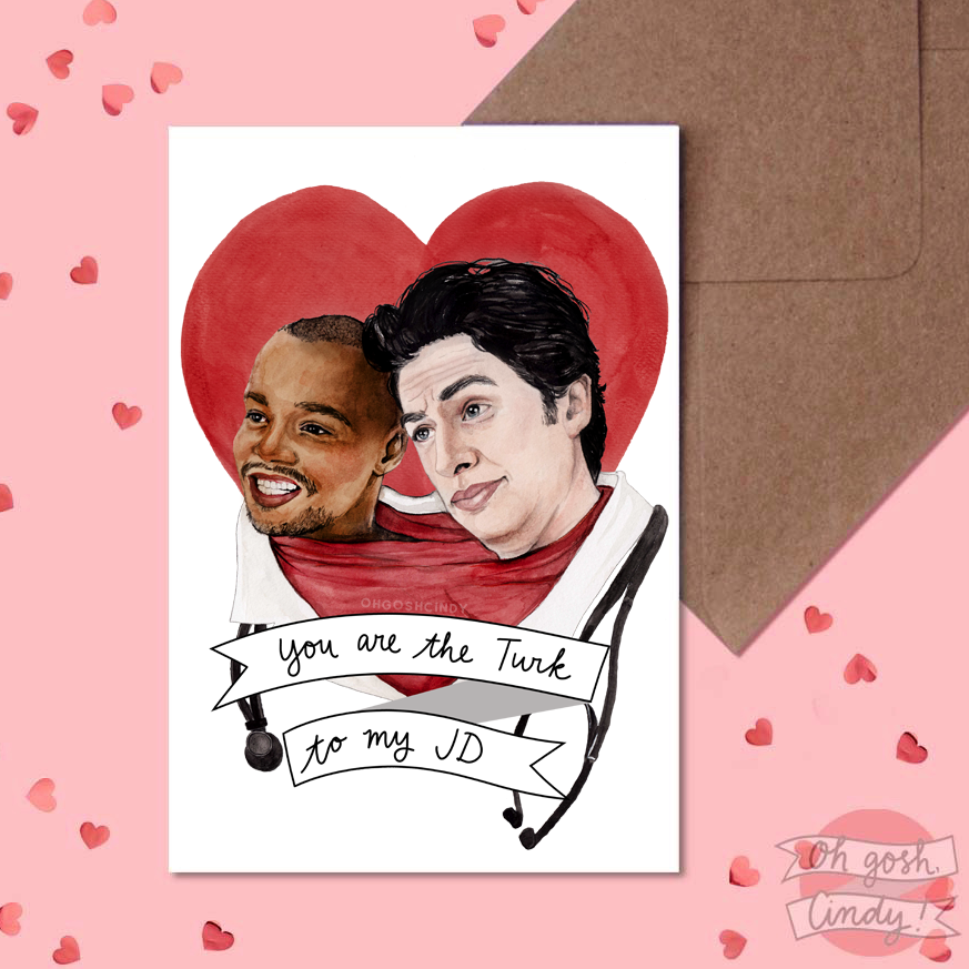 JD and Turk Valentine's card