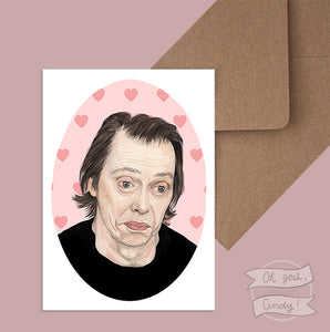 Steve Buscemi greeting card