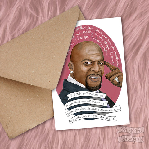 Terry Crews greeting card