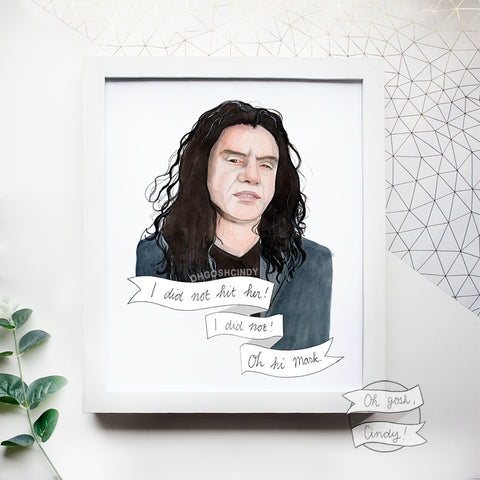 Tommy Wiseau ''The Room'' print