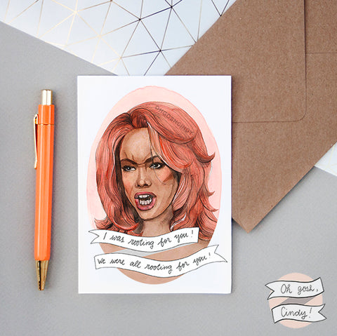 Tyra Banks greeting card