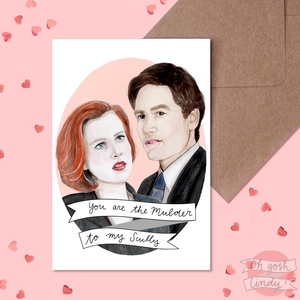Mulder and Scully Valentine's card