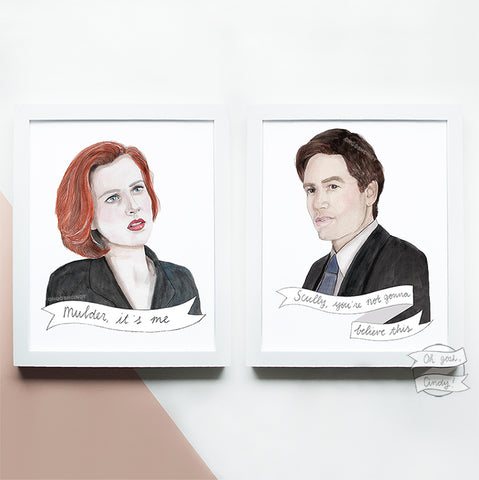 The X-Files print - Mulder & Scully