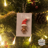 Christmas troll doll pin