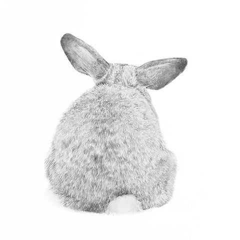 Don't be glum, It's a Bunny Bum giclee print