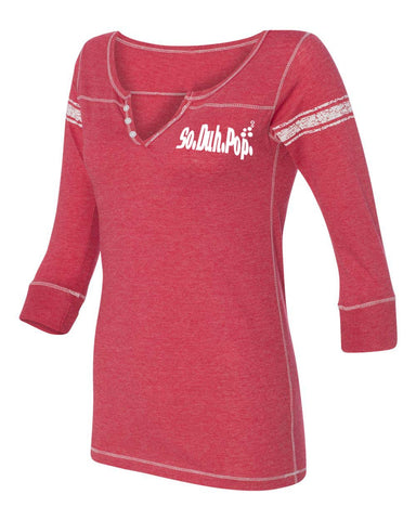 SDP Henley Three-Quarter (Red)