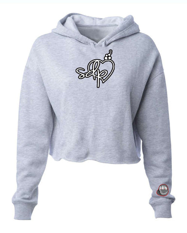 SDPLove Cropped Fleece Hoodie (Gray)
