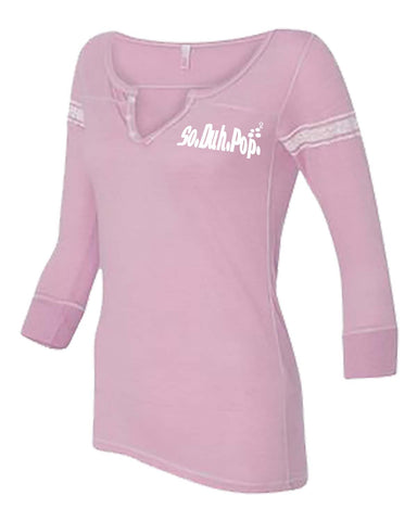 SDP Henley Three-Quarter (Pink)