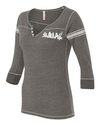 SDP Henley Three-Quarter (Black/Graphite)