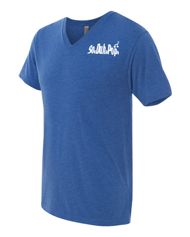 So.Duh.Pop Mens V Neck (Blue)