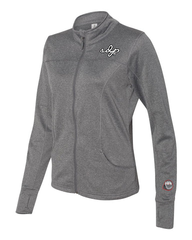 SDPSignature Women's Poly-Tech Track Jacket (Gray)