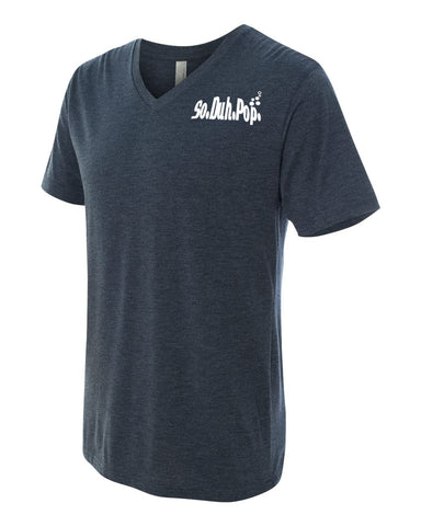 So.Duh.Pop Mens V Neck (Navy)