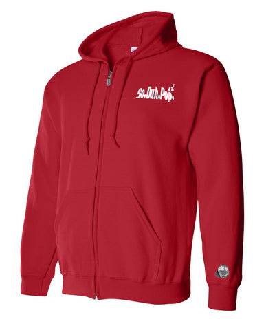 SoDuhPop Zip Up Unisex Hoodie (Red)