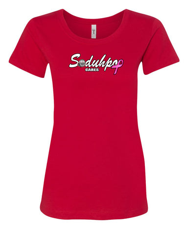 SoDuhPop Cares Breast Cancer Women's Tee (Red)