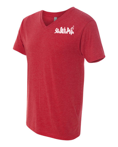 So.Duh.Pop Mens V Neck (Red)