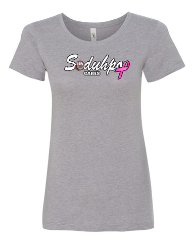 SoDuhPop Cares Breast Cancer Women's Tee (Gray)