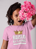 PopKids Raised By A King Girls Tees