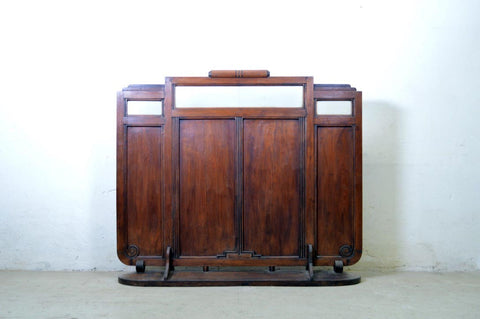 Separe paravento antico liberty coloniale india in teak