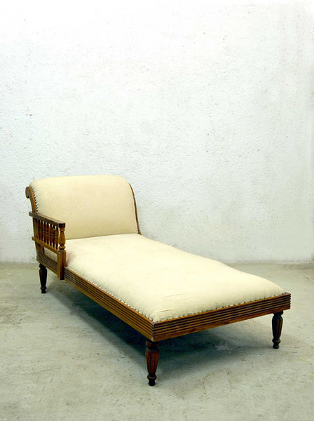 Chaise Longue coloniale in teak antica mobili etnici online