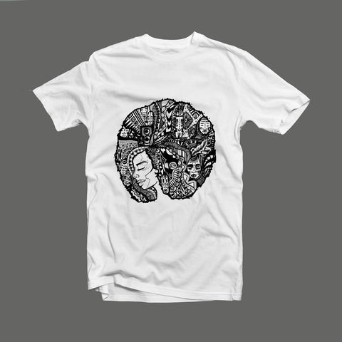 Cryptic Afro Lady T-Shirt
