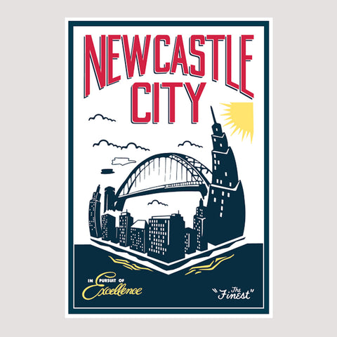 "Newcastle City ""The Finest"" Print"