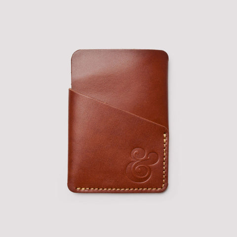 Slim Card Case – Brown Leather