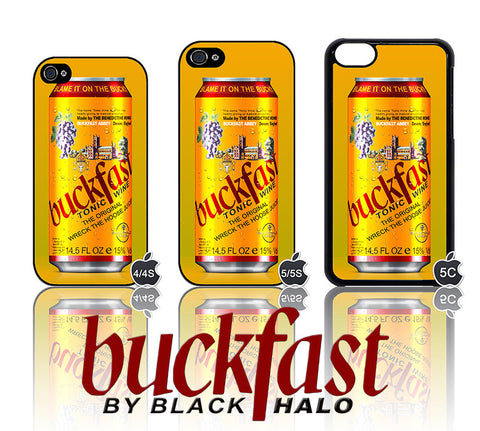 (NEW) BUCKFAST CAN/TIN ★ CASE/COVER FOR  APPLE IPHONE 4/4S/5/5S/5C (TONIC WINE) - Black Halo Design