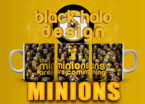 The Minions Are Coming 10oz Ceramic Mug #1 - Black Halo Design