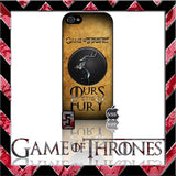 (NEW) ★ GAME OF THRONES ★ COVER/CASE FOR APPLE IPHONE 5 & 5S (SEASON 4) 5 G/5G  - Black Halo Design  - 3