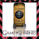 (NEW) ★ GAME OF THRONES ★ COVER/CASE FOR APPLE IPHONE 5 & 5S (SEASON 4) 5 G/5G  - Black Halo Design  - 2