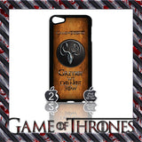 ★ GAME OF THRONES COVER/CASE FOR  APPLE IPOD TOUCH 5TH GENERATION 5/5G/GEN - Black Halo Design  - 3