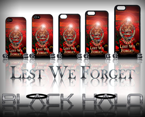 THE QUEENS REGIMENT POPPY ★ CASE/COVER FOR  APPLE IPHONE 4,4S,5,5S,5C,6 & 6 PLUS - Black Halo Design
