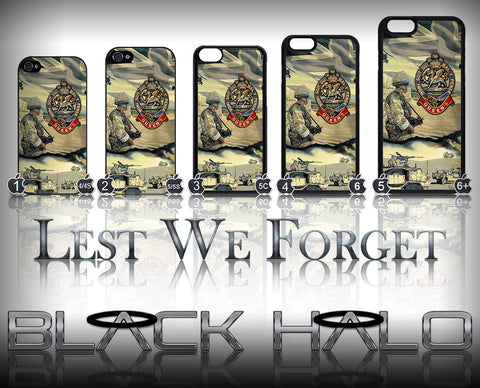 THE QUEENS REGIMENT AFGHANISTAN: CAMP BASTION ★ CASE/COVER FOR  APPLE IPHONE 4,4S,5,5S,5C,6 & 6 PLUS - Black Halo Design