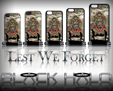 THE QUEENS REGIMENT MULTI-CAM ★ CASE/COVER FOR  APPLE IPHONE 4,4S,5,5S,5C,6 & 6 PLUS - Black Halo Design