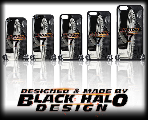 FAST AND FURIOUS 7 CASE/COVER FOR  APPLE IPHONE 4,4S,5,5S,5C,6 & 6 PLUS #1 - Black Halo Design  - 1