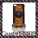 ★ GAME OF THRONES COVER/CASE FOR  APPLE IPOD TOUCH 5TH GENERATION 5/5G/GEN - Black Halo Design  - 8