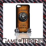 ★ GAME OF THRONES COVER/CASE FOR  APPLE IPOD TOUCH 5TH GENERATION 5/5G/GEN - Black Halo Design  - 10