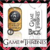 ★ CHOICE OF GAME OF THRONES ★ DOG TAG NECKLACE KEYRING/KEY CHAIN (DOGTAG) - Black Halo Design  - 8