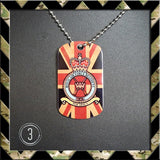 ★ CHOICE OF ROYAL AIR FORCE REGIMENT ★ DOG TAG NECKLACE/KEY RING/KEYRING/DOGTAG - Black Halo Design  - 3