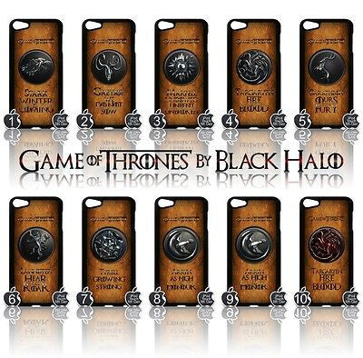 ★ GAME OF THRONES COVER/CASE FOR  APPLE IPOD TOUCH 5TH GENERATION 5/5G/GEN - Black Halo Design  - 1
