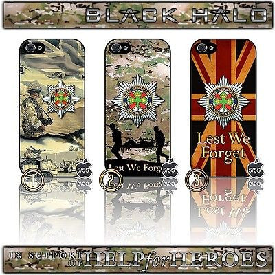 CHOICE OF IRISH GUARDS CASE/COVER FOR APPLE IPHONE 5/5S (H4H,HELP FOR HEROES) - Black Halo Design  - 1